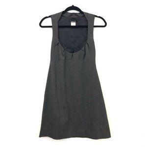 Patrizia Pepe 4 Gray Wool Scoop Neck Sheath Dress
